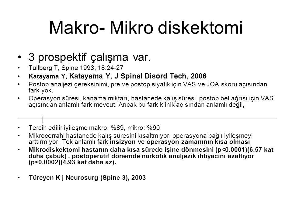 Makro- Mikro diskektomi