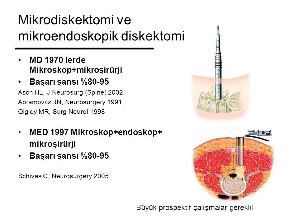 Mikrodiskektomi ve mikroendoskopik diskektomi