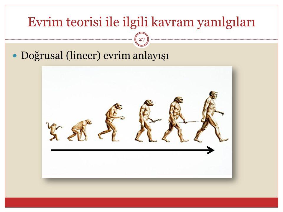 Evrim teorisi ile ilgili kavram yanılgıları