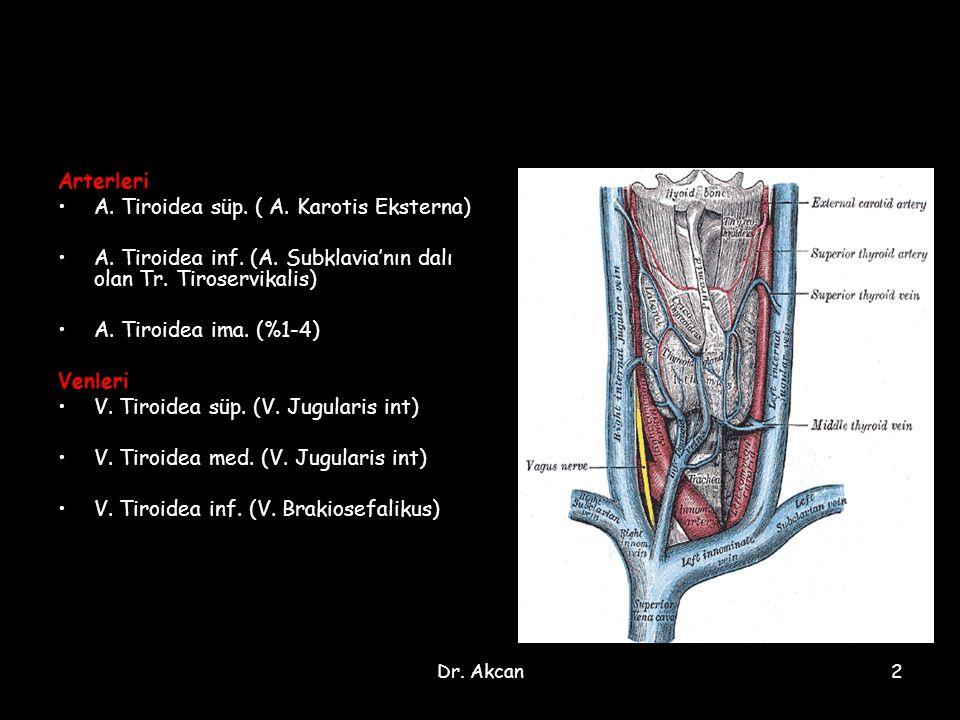 A. Tiroidea süp. ( A. Karotis Eksterna)