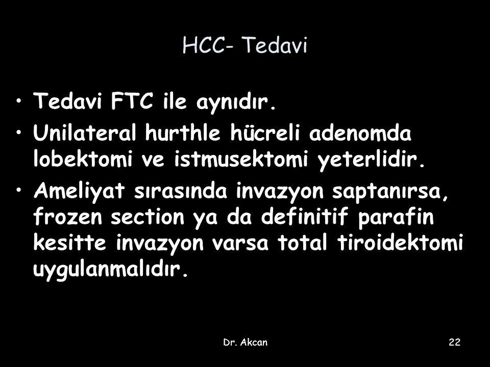 HCC- Tedavi Tedavi FTC ile aynıdır.
