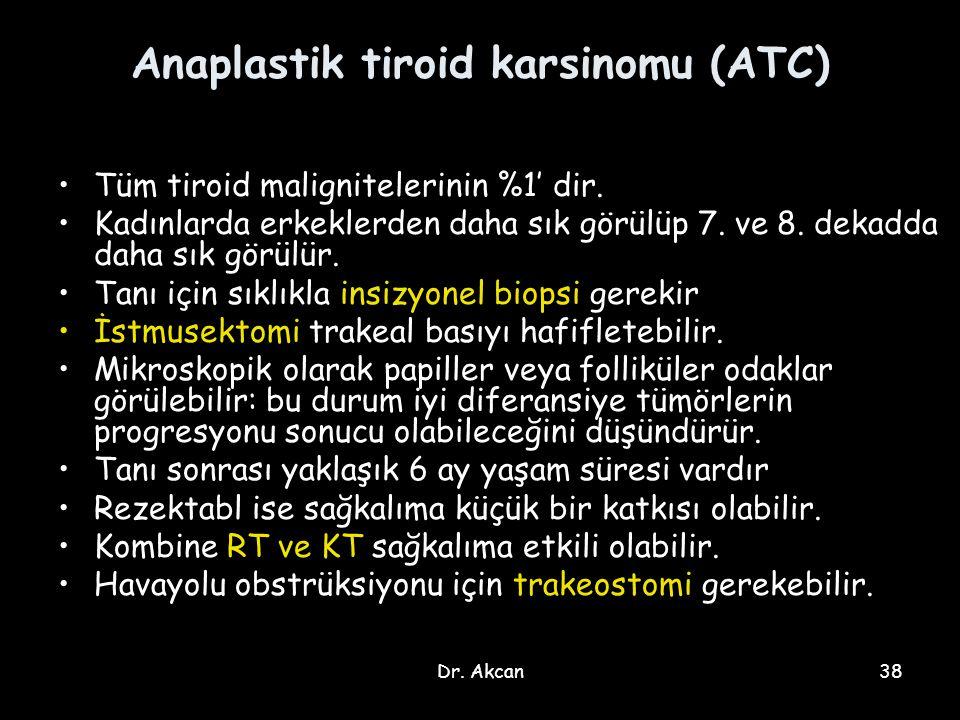 Anaplastik tiroid karsinomu (ATC)