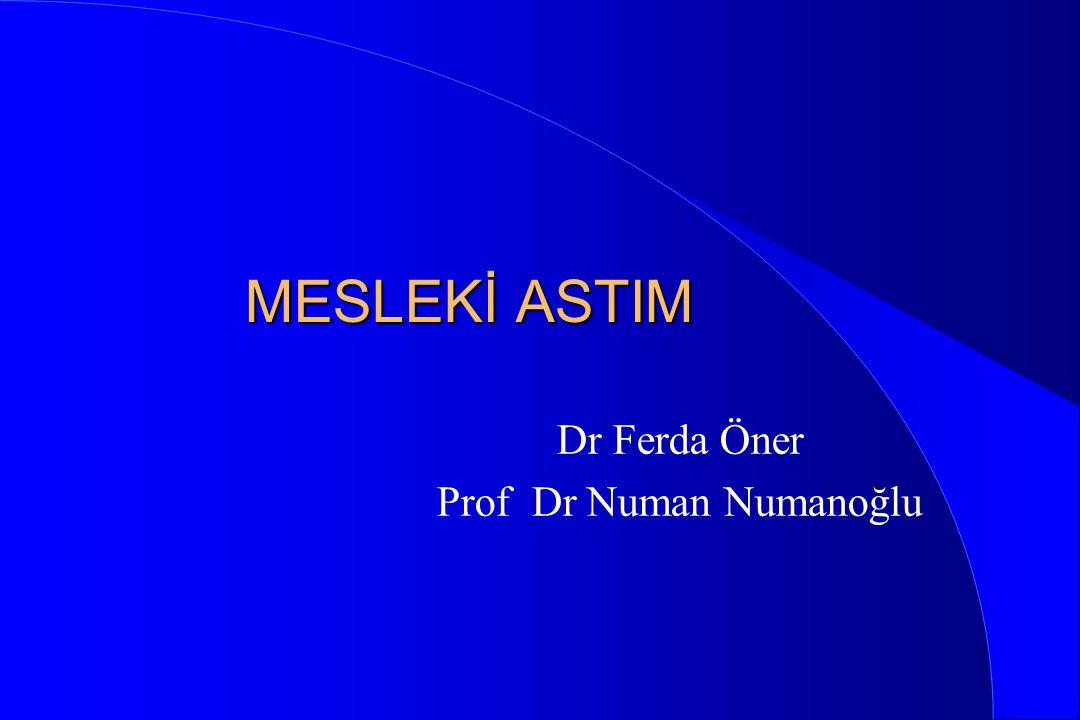Dr Ferda Öner Prof Dr Numan Numanoğlu