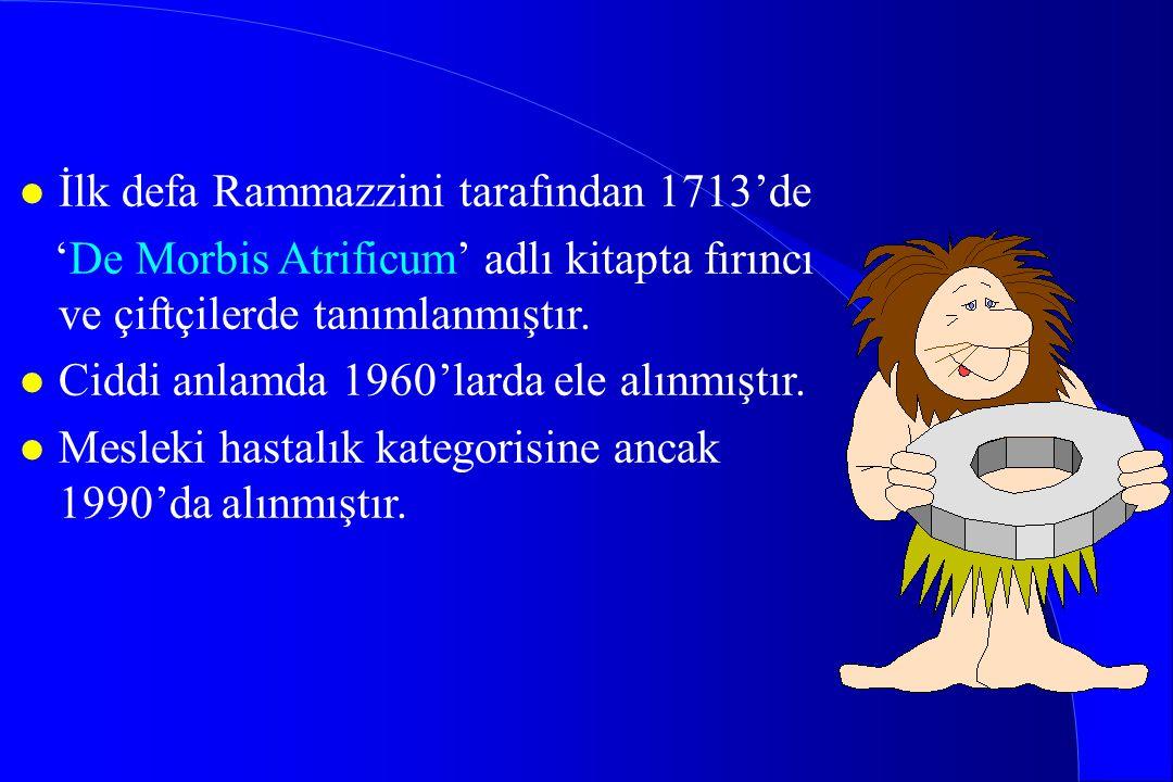 İlk defa Rammazzini tarafından 1713'de
