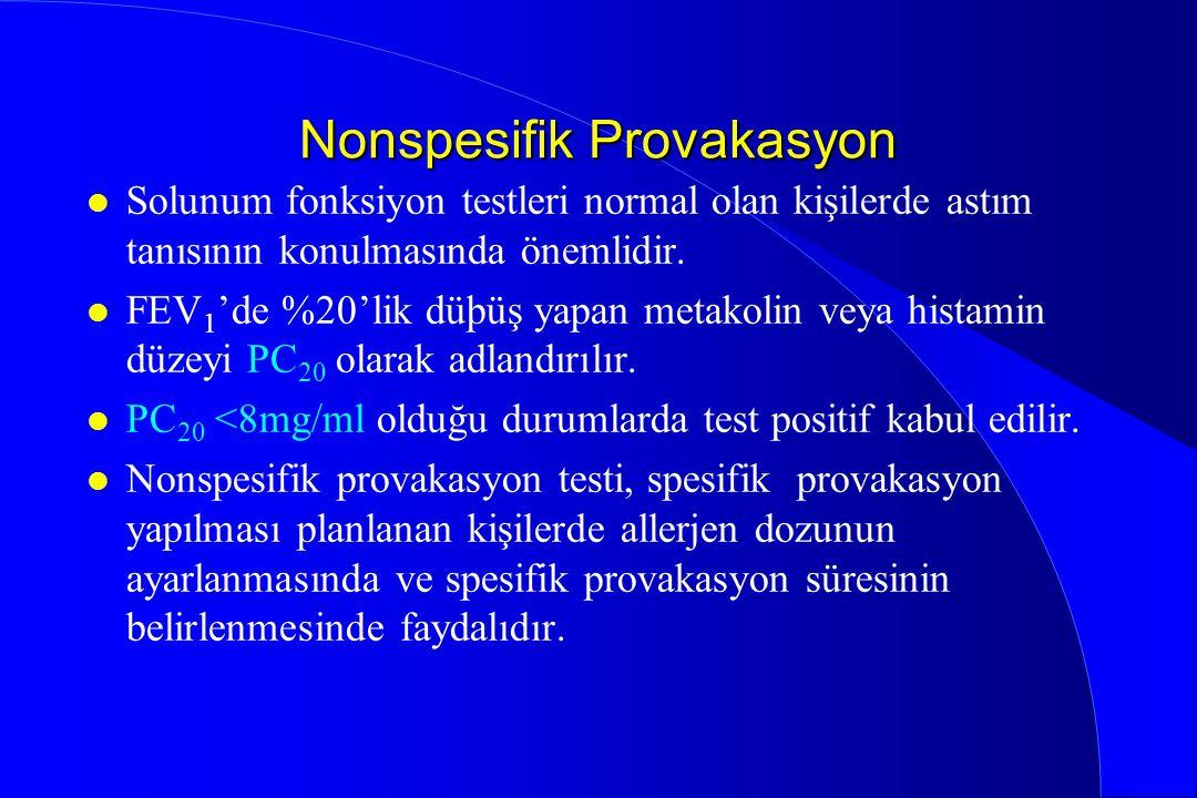Nonspesifik Provakasyon