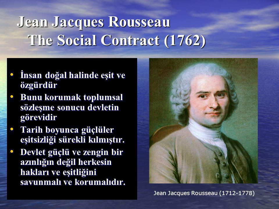 Jean Jacques Rousseau The Social Contract (1762)