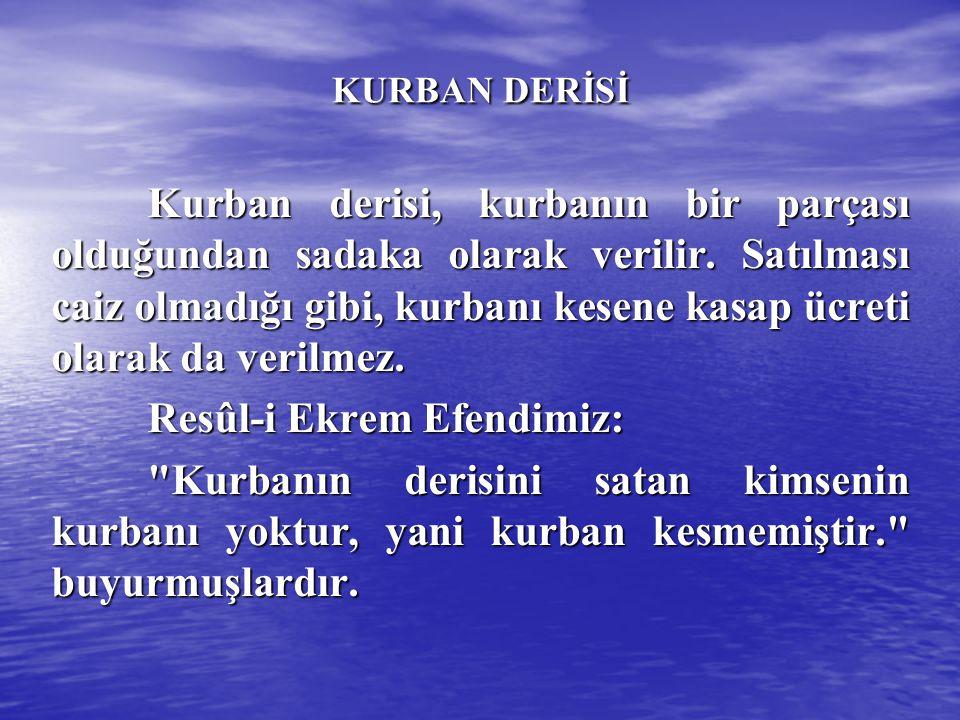 Resûl-i Ekrem Efendimiz: