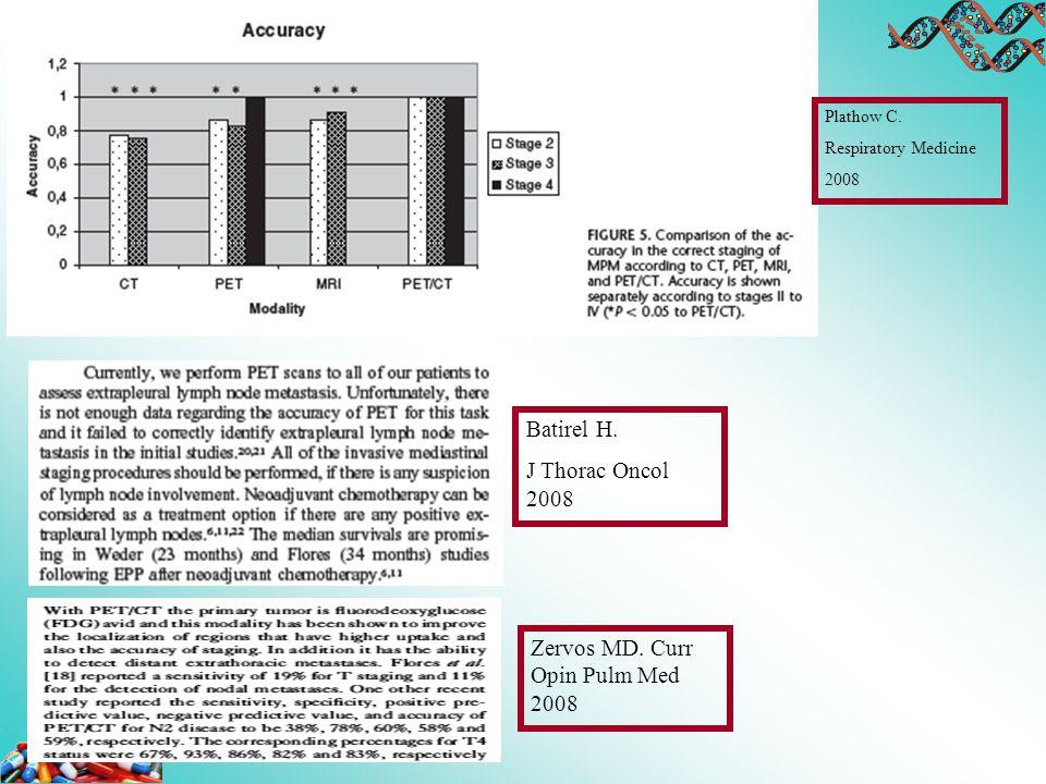 Zervos MD. Curr Opin Pulm Med 2008