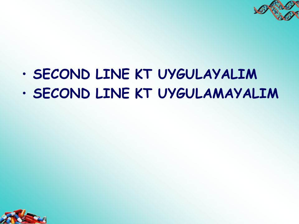 SECOND LINE KT UYGULAYALIM SECOND LINE KT UYGULAMAYALIM