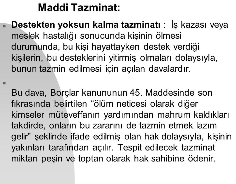 Maddi Tazminat: