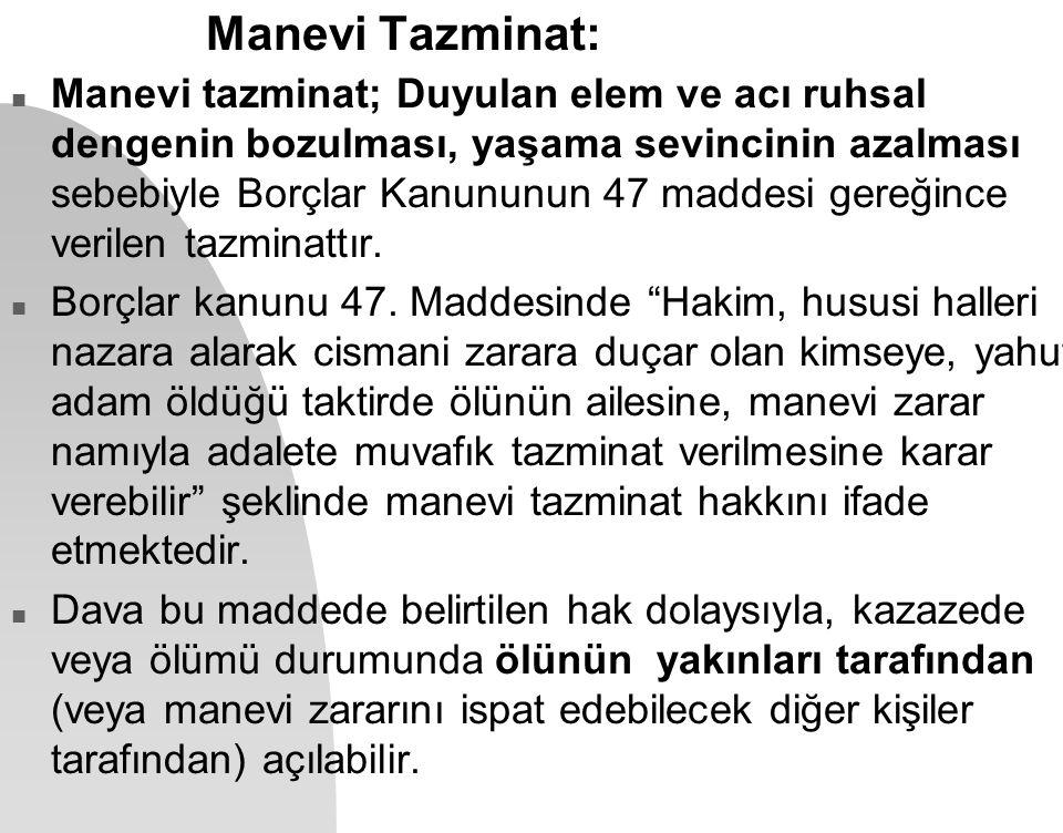 Manevi Tazminat: