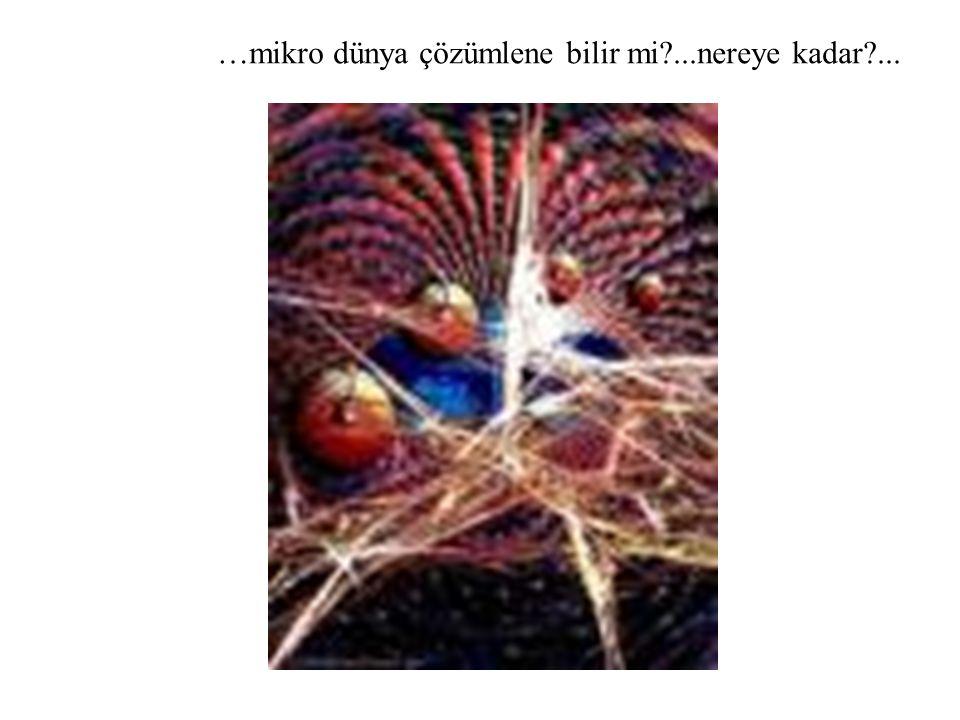 …mikro dünya çözümlene bilir mi ...nereye kadar ...