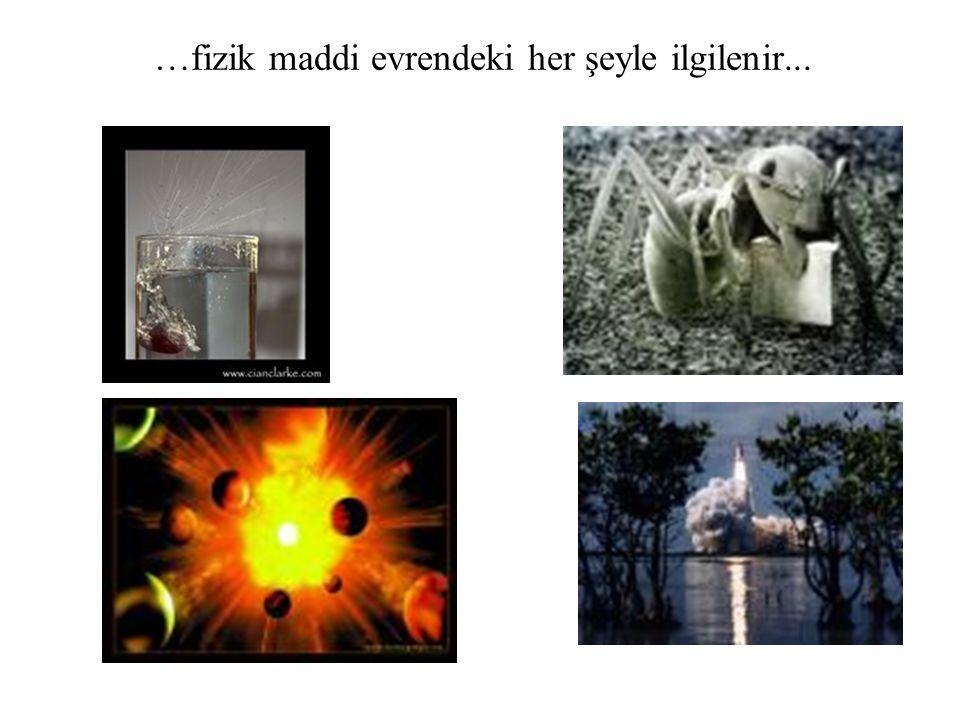 …fizik maddi evrendeki her şeyle ilgilenir...