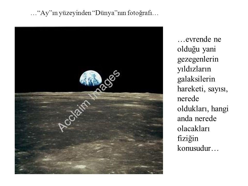 … Ay ın yüzeyinden Dünya nın fotoğrafı…