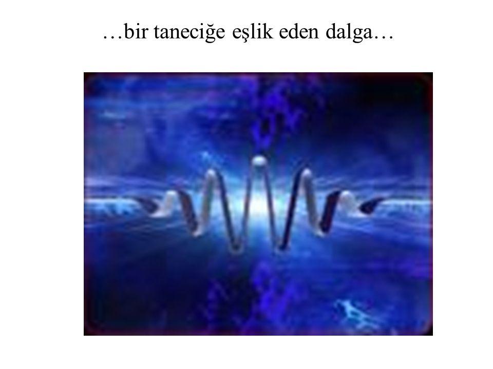 …bir taneciğe eşlik eden dalga…