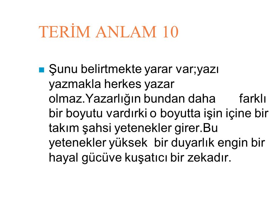 TERİM ANLAM 10