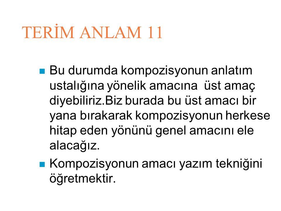 TERİM ANLAM 11