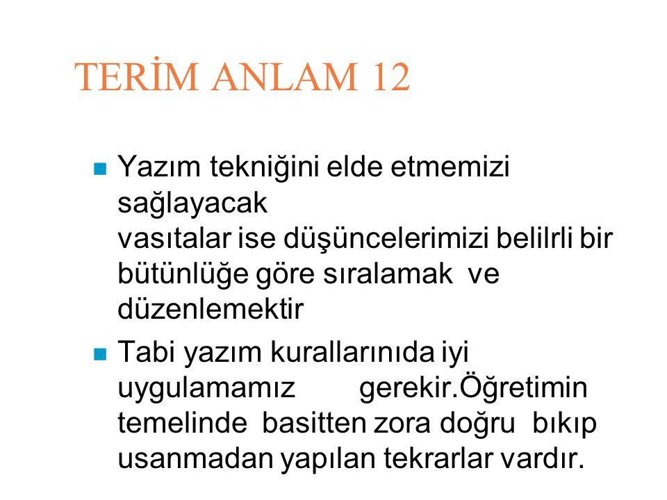 TERİM ANLAM 12
