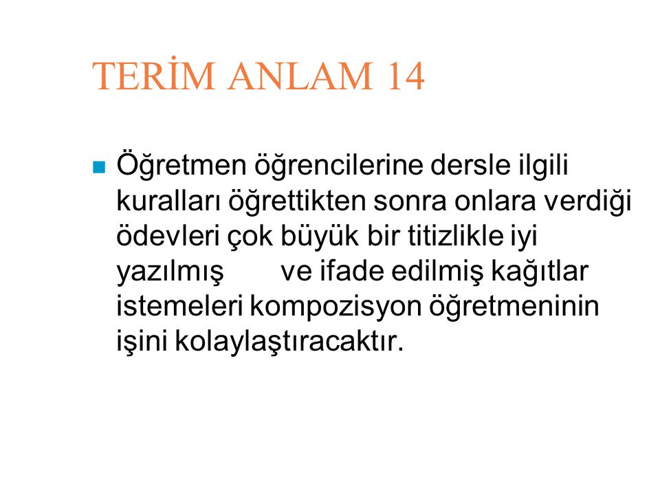 TERİM ANLAM 14