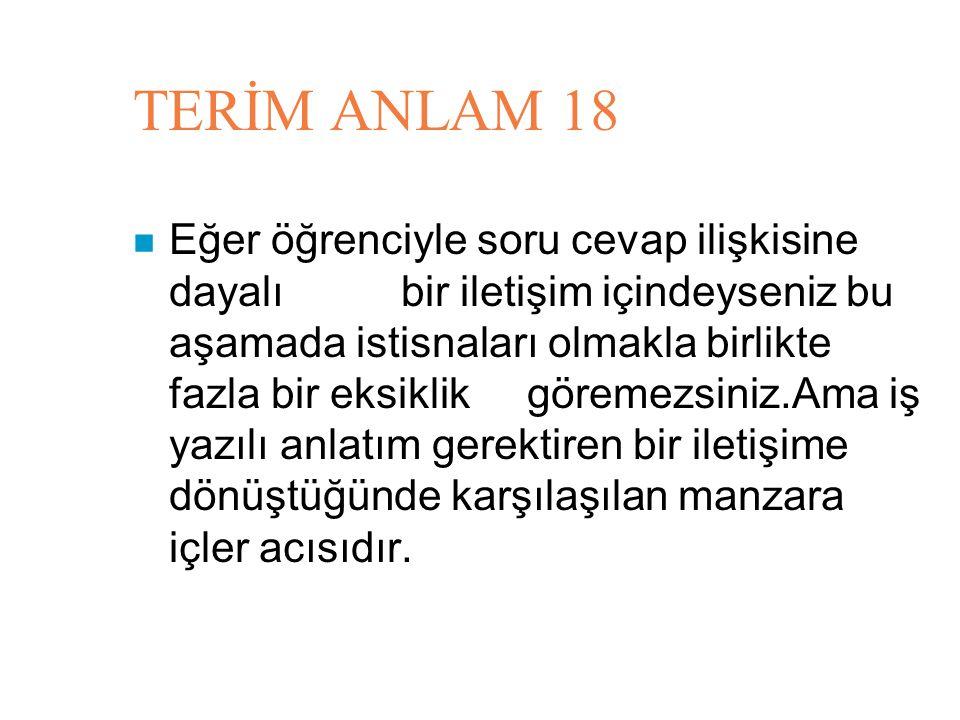 TERİM ANLAM 18