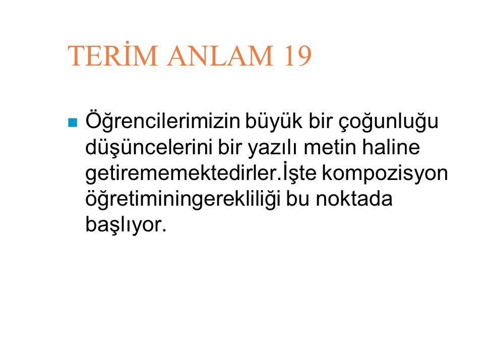 TERİM ANLAM 19