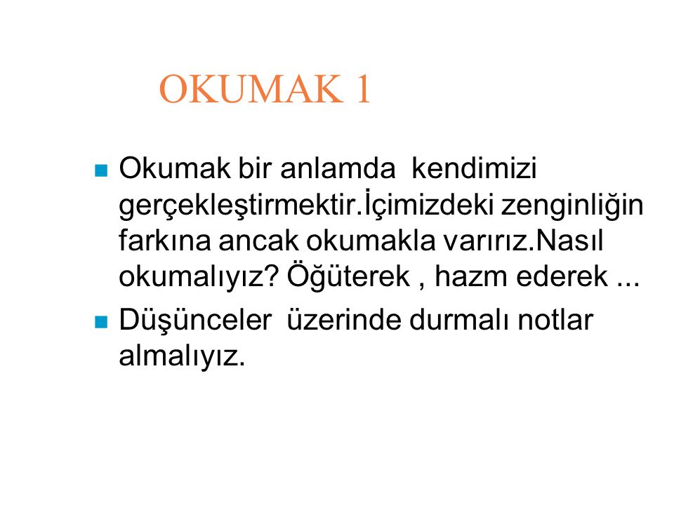 OKUMAK 1