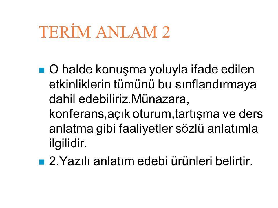 TERİM ANLAM 2