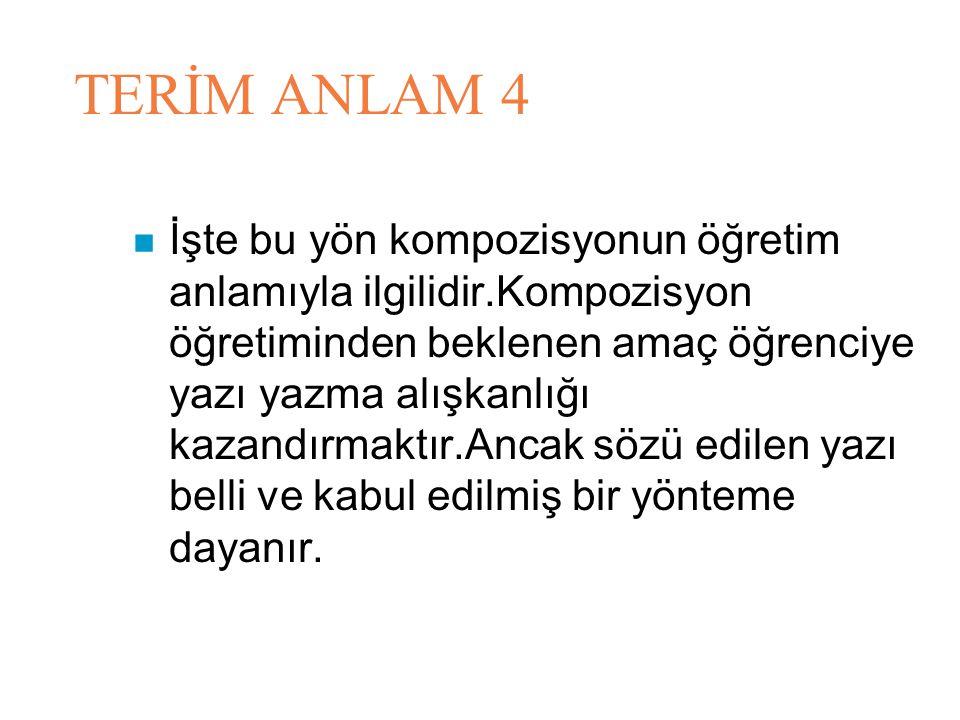 TERİM ANLAM 4