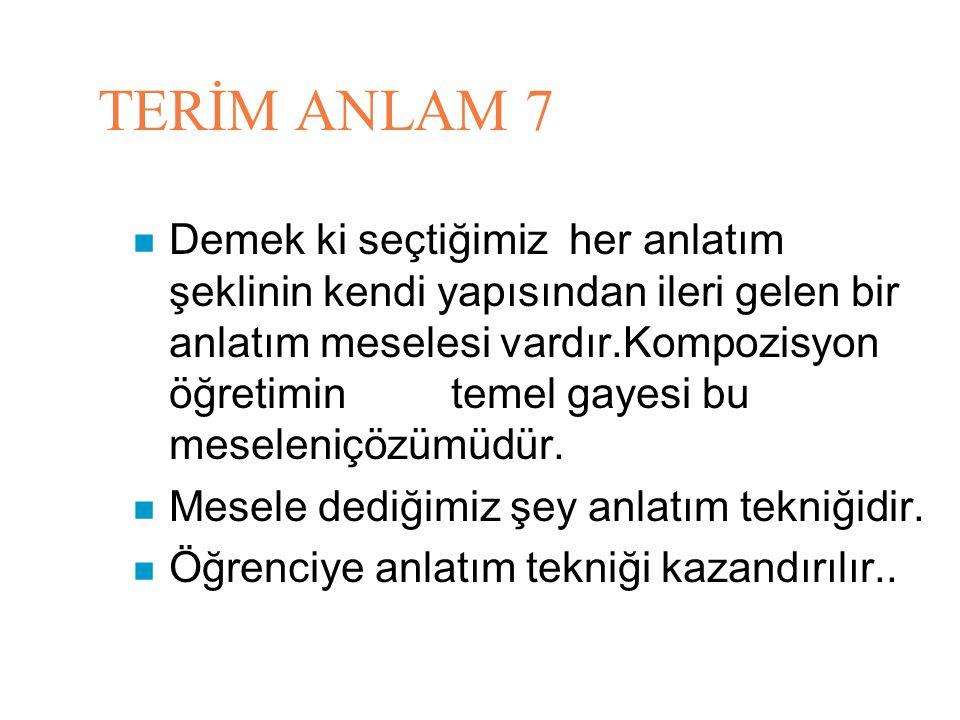 TERİM ANLAM 7