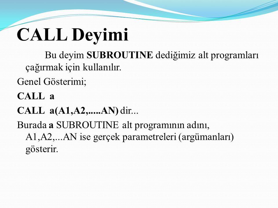 CALL Deyimi