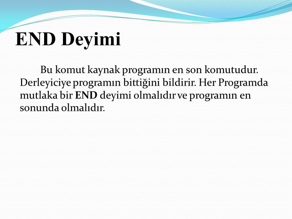 END Deyimi