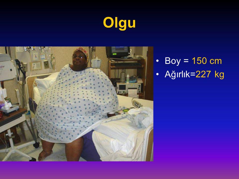Olgu Boy = 150 cm Ağırlık=227 kg