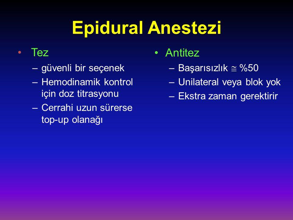 Epidural Anestezi Tez Antitez güvenli bir seçenek