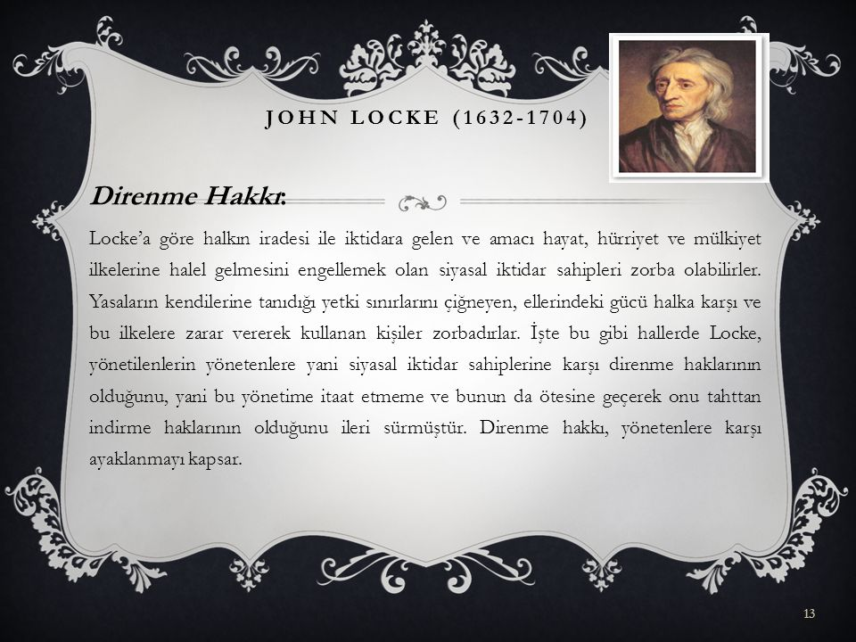 Direnme Hakkı: John Locke (1632-1704)
