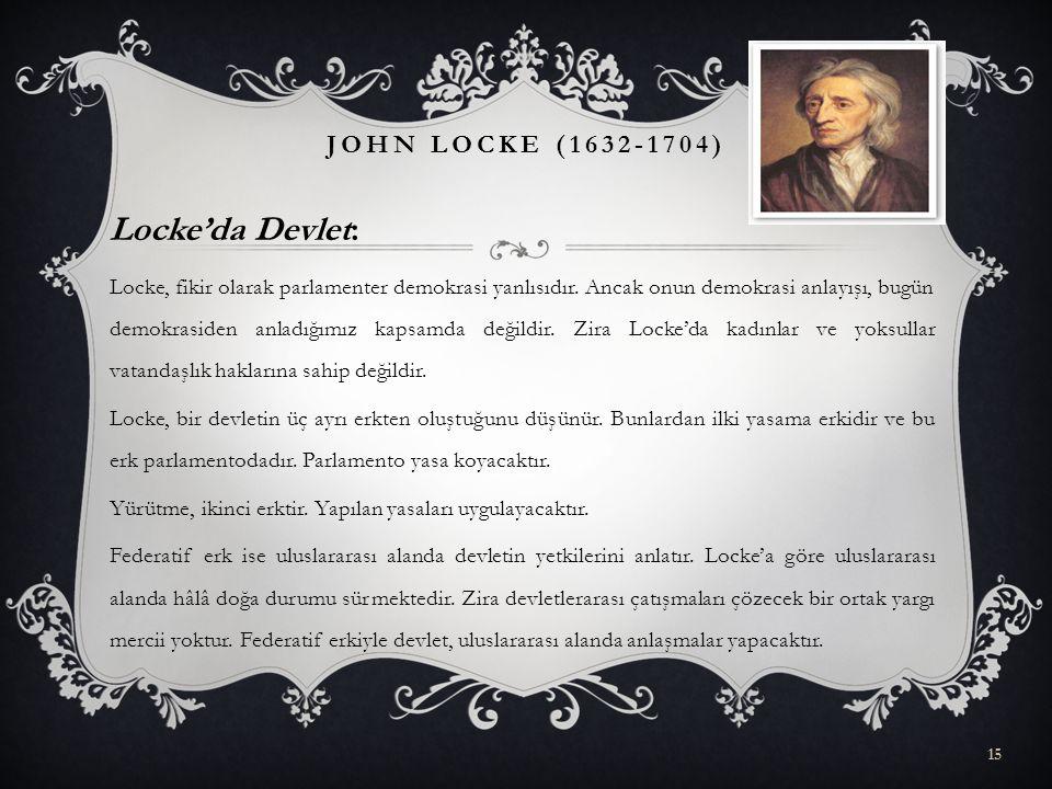 Locke'da Devlet: John Locke (1632-1704)
