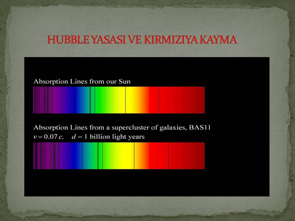 HUBBLE YASASI VE KIRMIZIYA KAYMA