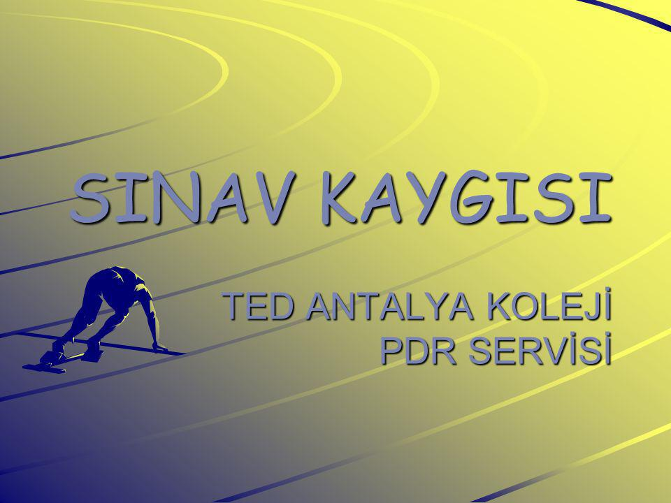 SINAV KAYGISI TED ANTALYA KOLEJİ PDR SERVİSİ
