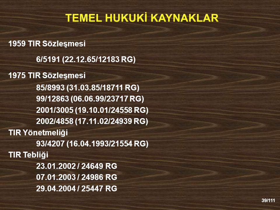 TEMEL HUKUKİ KAYNAKLAR