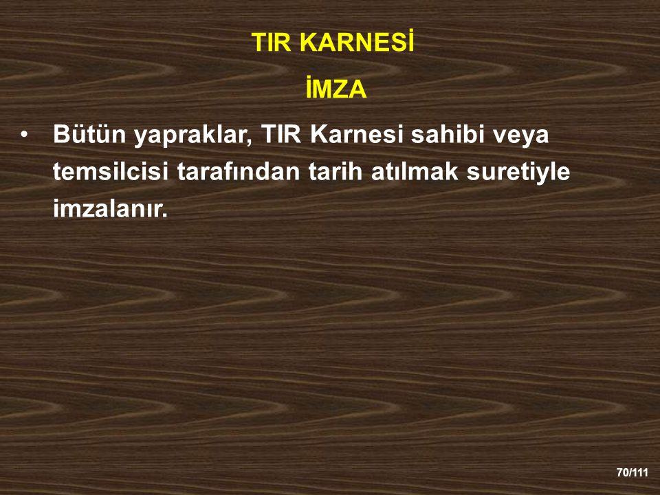 TIR KARNESİ İMZA.