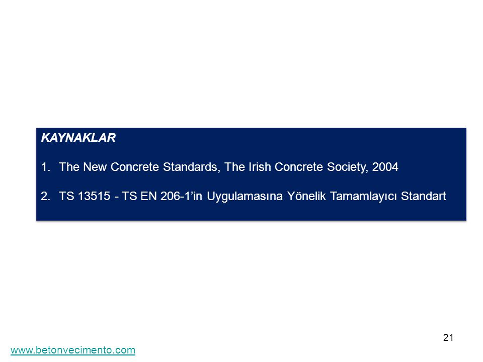 The New Concrete Standards, The Irish Concrete Society, 2004
