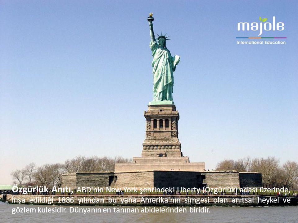 Özgürlük Anıtı, ABD nin New York şehrindeki Liberty (Özgürlük) adası üzerinde, inşa edildiği 1886 yılından bu yana Amerika nın simgesi olan anıtsal heykel ve gözlem kulesidir.