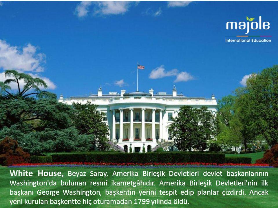 White House, Beyaz Saray, Amerika Birleşik Devletleri devlet başkanlarının Washington da bulunan resmî ikametgâhıdır.