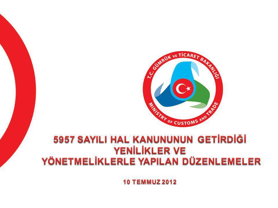 5957 SAYILI HAL KANUNUNUN GETİRDİĞİ YENİLİKLER VE YÖNETMELİKLERLE YAPILAN DÜZENLEMELER 10 TEMMUZ 2012