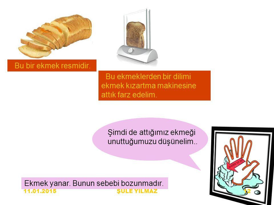 Bu ekmeklerden bir dilimi ekmek kızartma makinesine attık farz edelim.