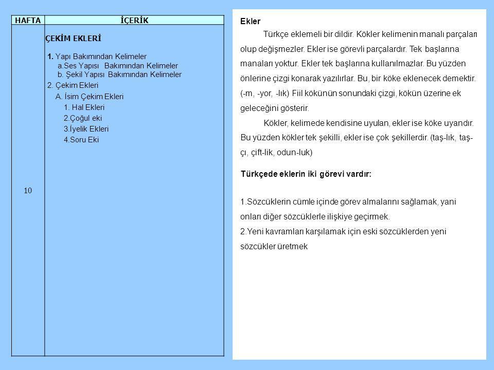 Türkçede eklerin iki görevi vardır: