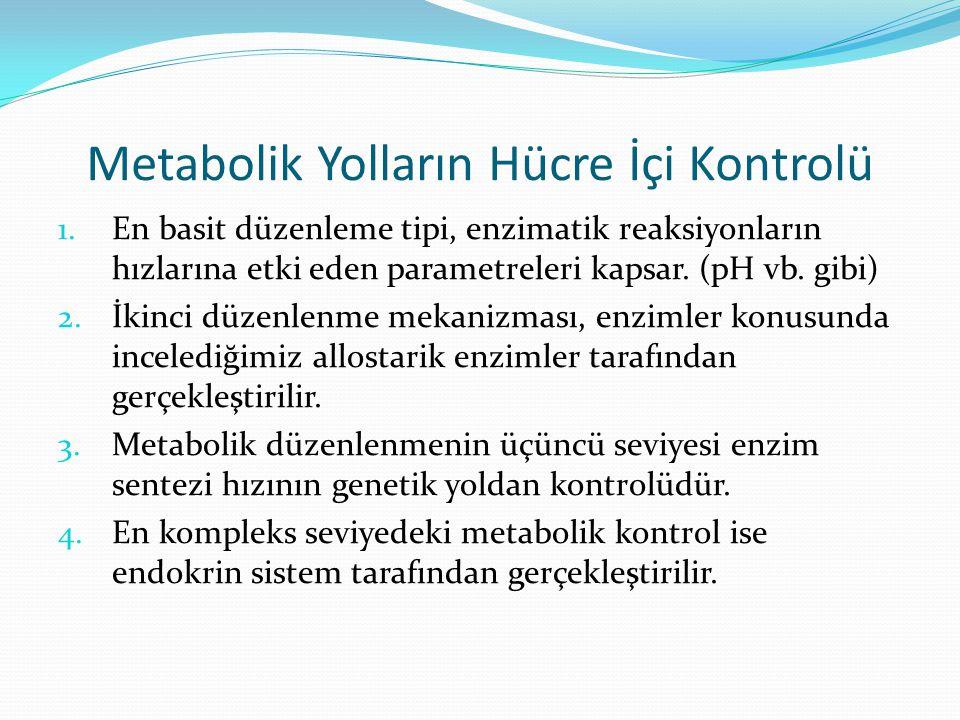Metabolik Yolların Hücre İçi Kontrolü