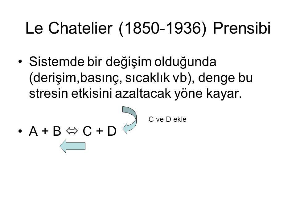 Le Chatelier (1850-1936) Prensibi
