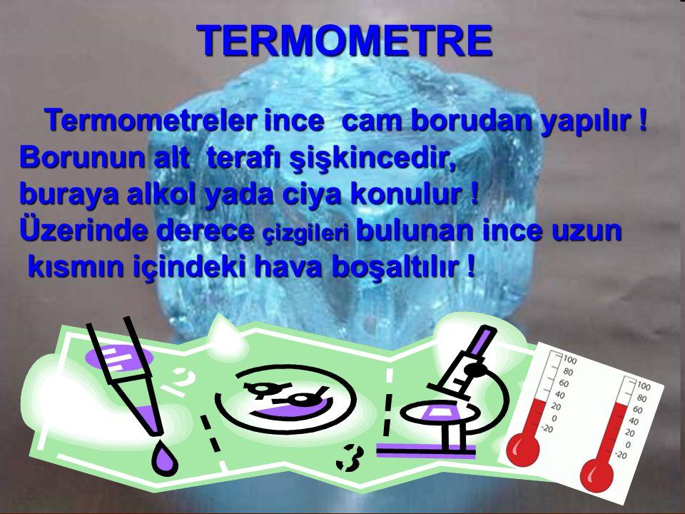 TERMOMETRE Termometreler ince cam borudan yapılır !