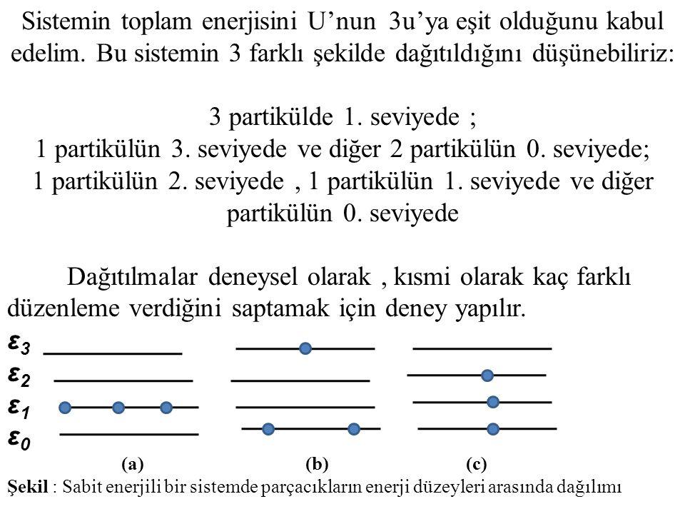 1 partikülün 3. seviyede ve diğer 2 partikülün 0. seviyede;