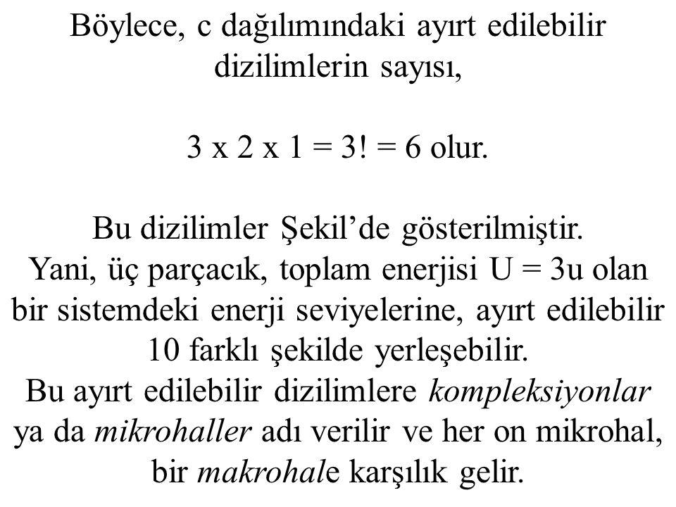 Böylece, c dağılımındaki ayırt edilebilir dizilimlerin sayısı,